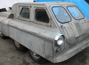 Cоветский вездеход 8х8, сделанный из ГАЗ-20