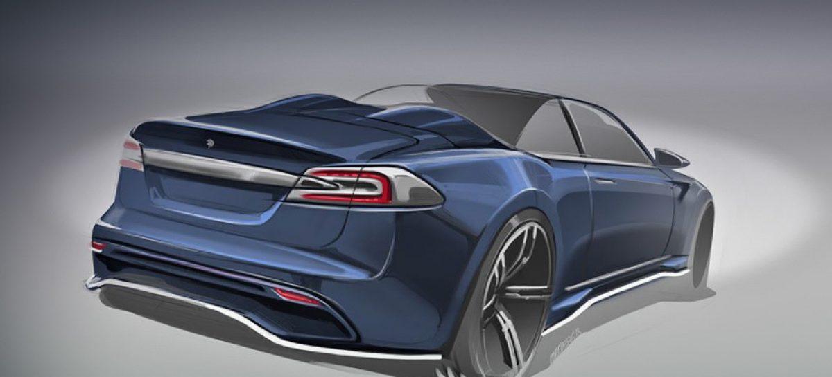 Ares Design опубликовала тизер родстера на базе Tesla Model S
