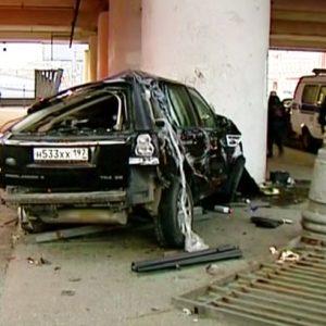 В Москве внедорожник упал с ТТК