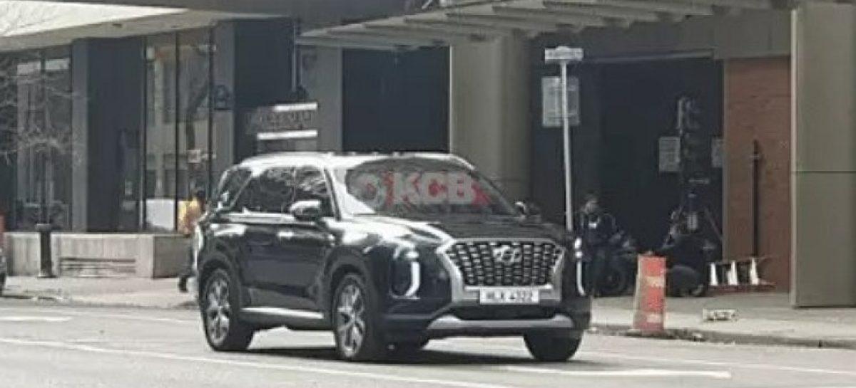 Шпионские фото Hyundai Palisade без камуфляжа