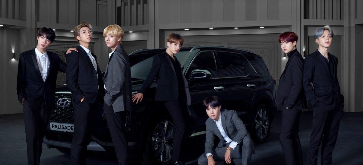 Hyundai вместе с бойз-бэндом BTS отмечает выход на рынок нового флагманского кроссовера
