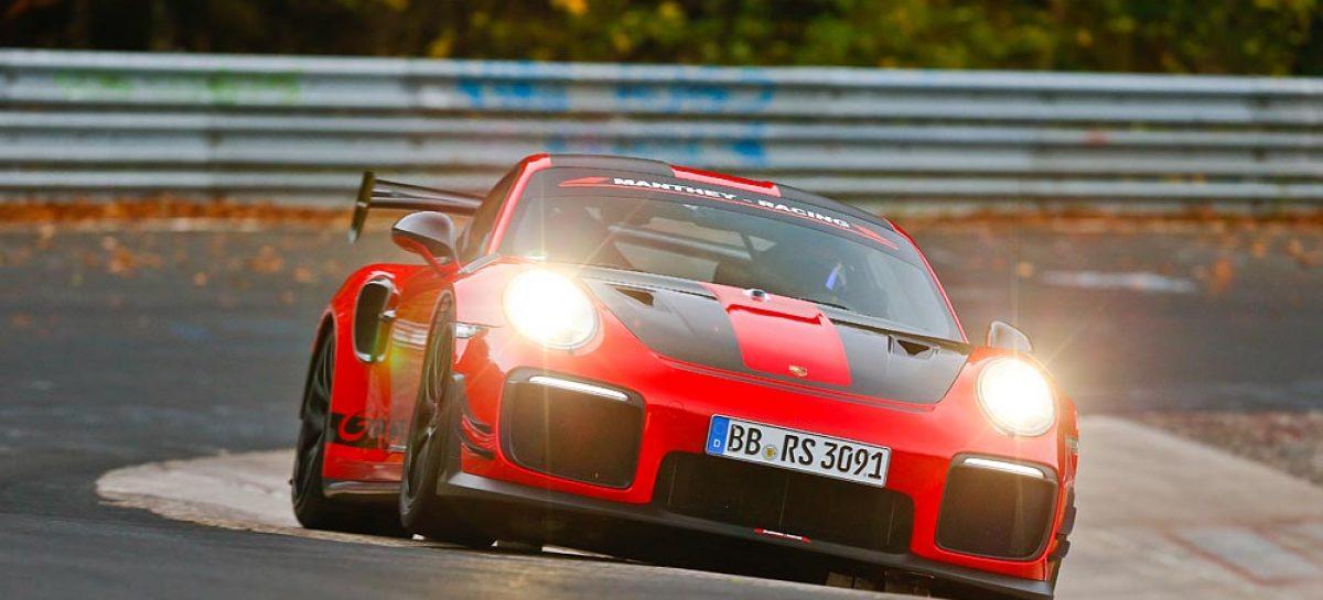 Porsche 911 GT2 RS MR установил новый рекорд круга на Северной петле Нюрбургринга