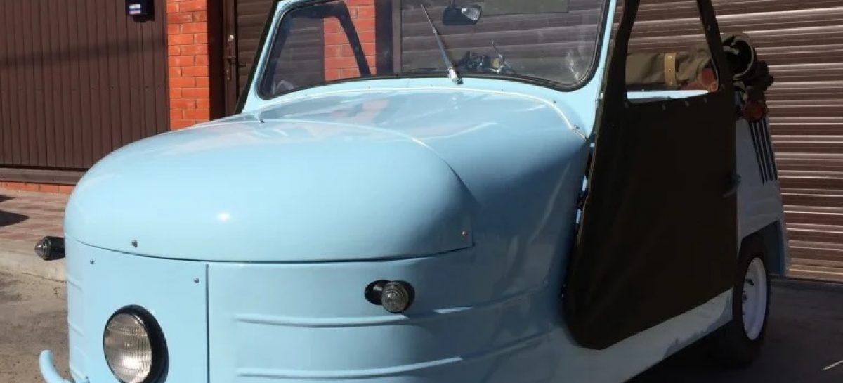 На продажу выставлена уникальная трехколесная мотоколяска СМЗ С-1Л «Циклоп» 1952 года выпуска