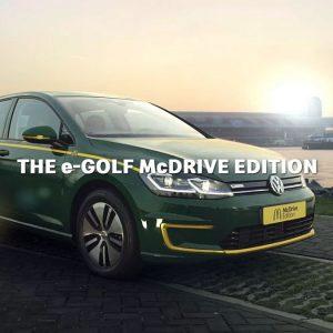 Представлена спецверсия Volkswagen Golf для McDonalds