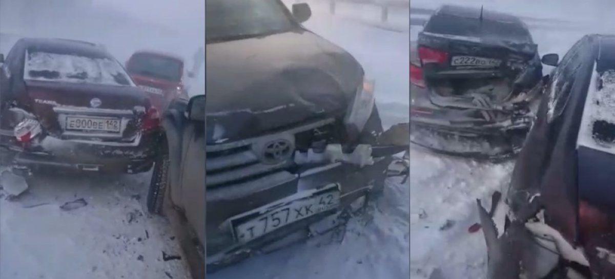 Массовое ДТП на трассе в Кемеровской области