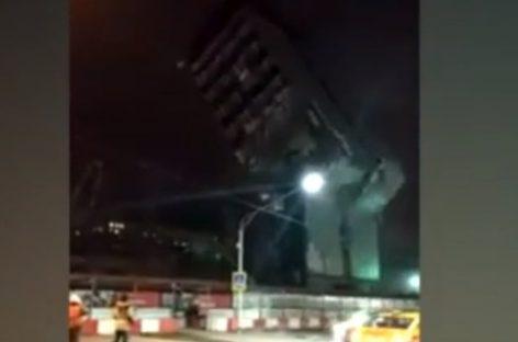Бизнес-центр Северянин рухнул на Ярославское шоссе