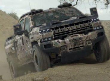 GM показало видео с пикапом Chevrolet Silverado ZH2