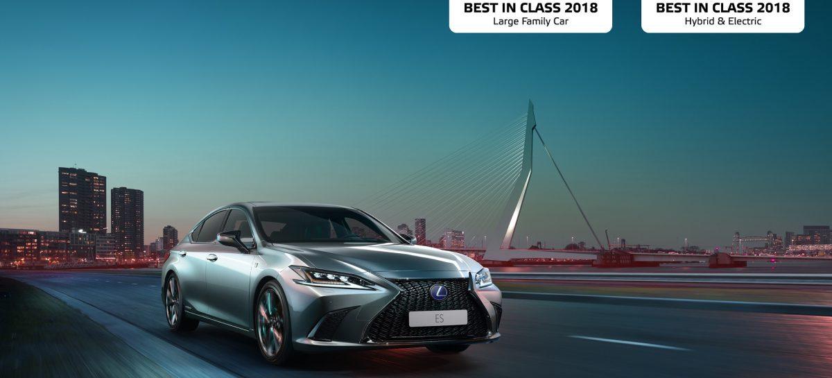 Lexus ES получил звание «Лучший автомобиль в классе – 2018» по версии  Euro NCAP