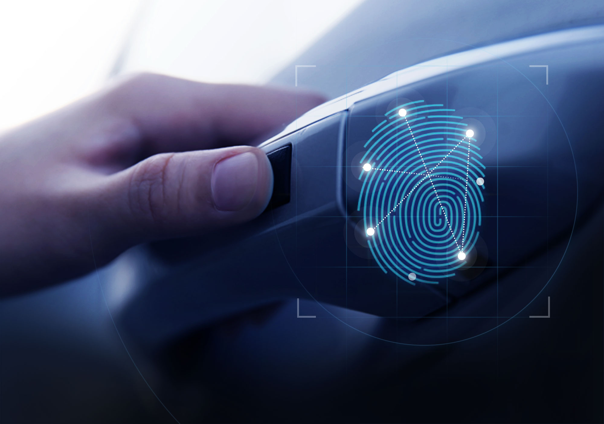 Hyundai Motor сканер отпечатков