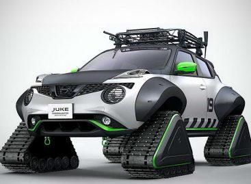 Построен Nissan Juke на гусеничном ходу