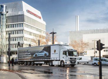 Porsche использует на заводе в Штуттгарт-Цуффенхаузене электрогрузовик MAN eTGM