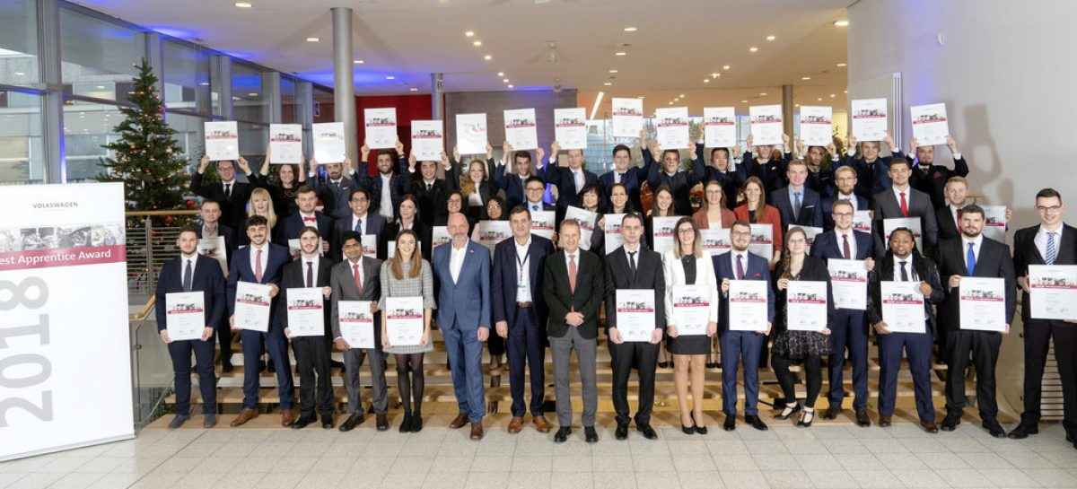 Volkswagen наградил лучших молодых специалистов