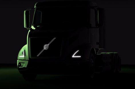 Volvo Trucks показал тизер электрического тягача VNR Electric
