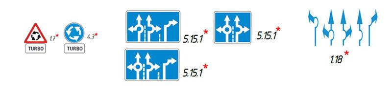 Турбоперекресток знаки