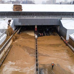 Тушинский тоннель затоплен