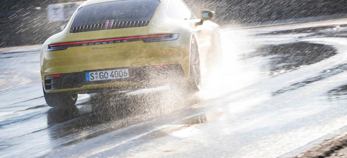 Porsche 911: еще больше безопасности c режимом Porsche Wet