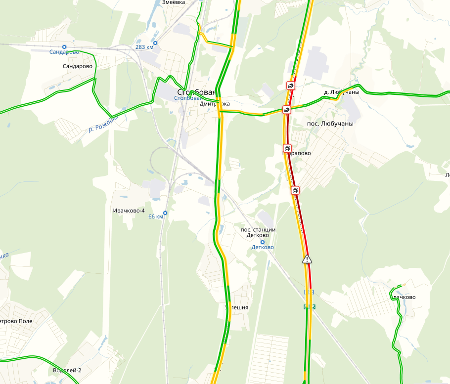 Карта Яндекс пробки