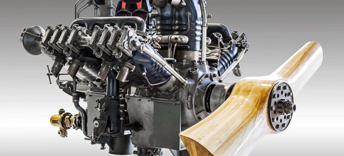 Уникальный экспонат музея ŠKODA: авиационный двигатель W12 Laurin & Klement