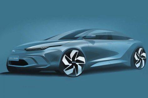 Geely показала новый электрический седан GE-11