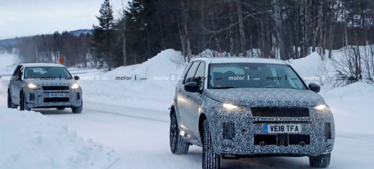 Зимние тесты Land Rover Discovery Sport 2020