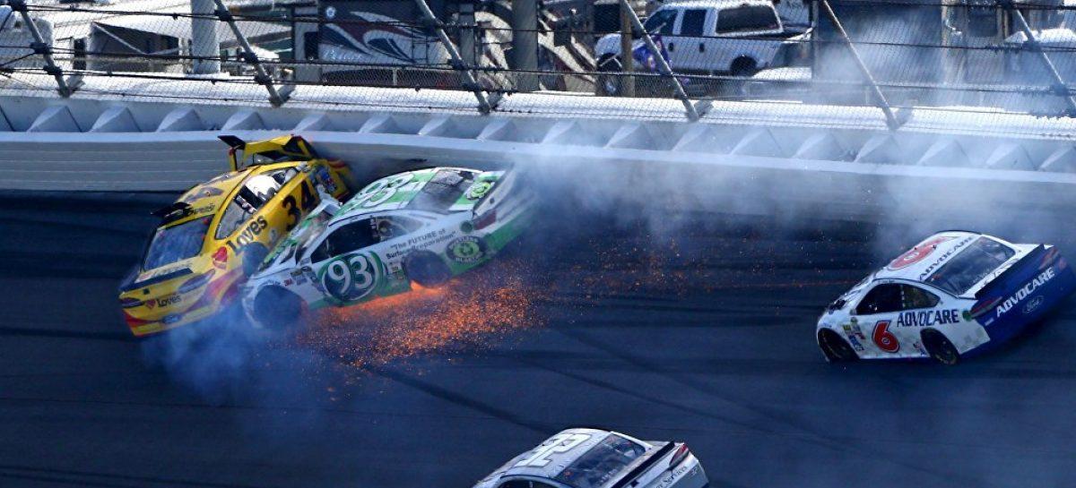 Массовая авария произошла на гонке NASCAR Daytona 500