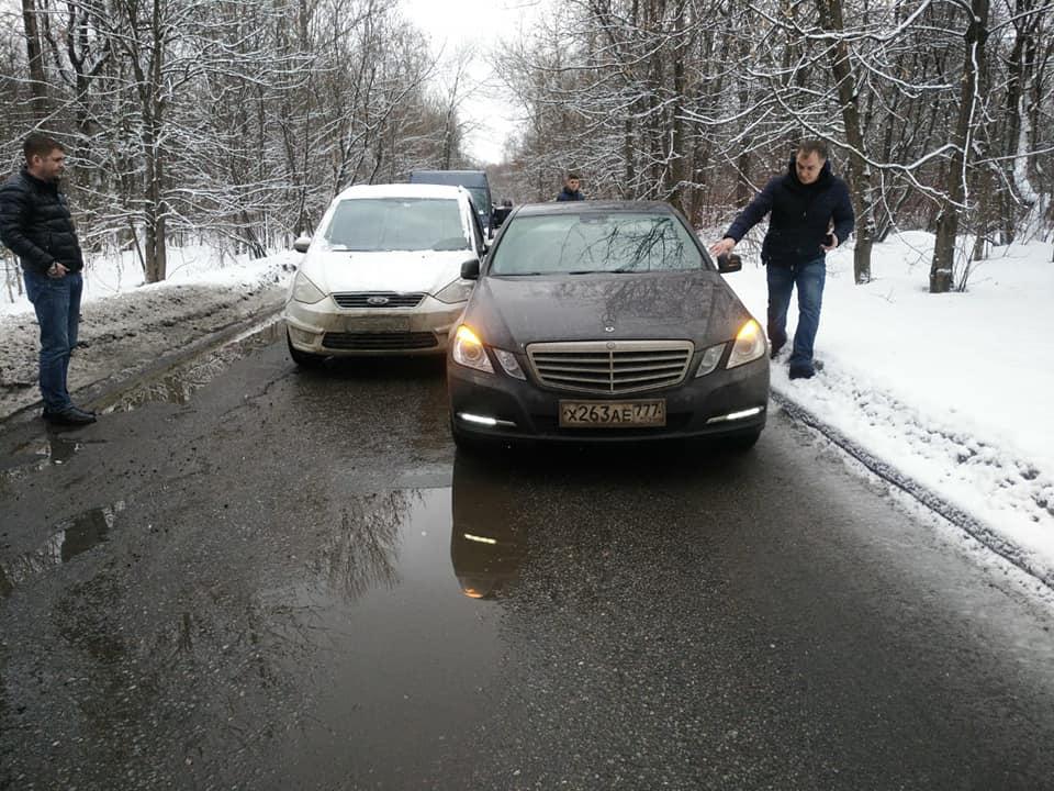 ДТП Mercedes Ford