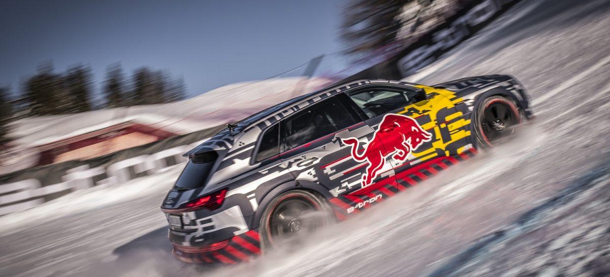 Audi e-tron на легендарной горнолыжной трассе Штрайф
