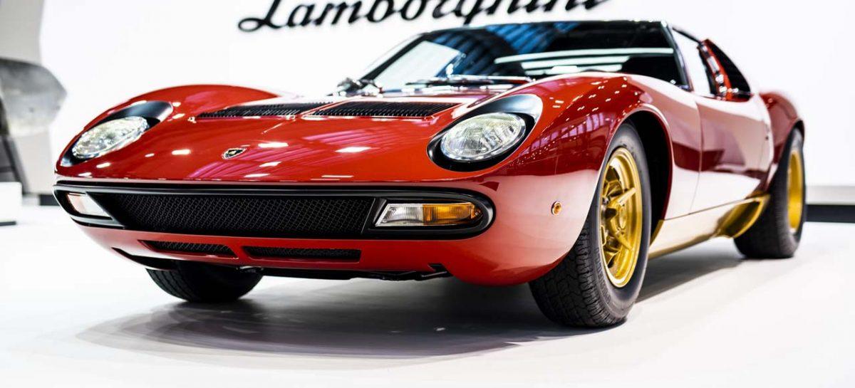 Lamborghini Polo Storico на выставке Rétromobile представило суперкар Miura SV