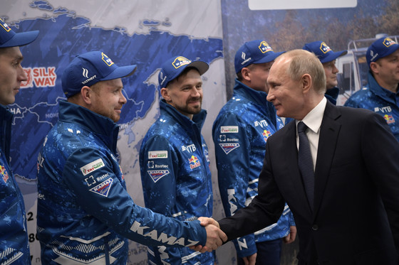 встреча Владимира Путина и команды КАМАЗ-мастер