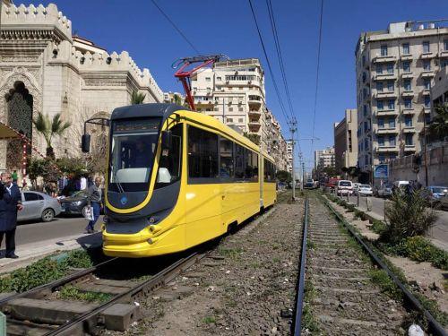 Украинские трамваи в Египте улица Александрии