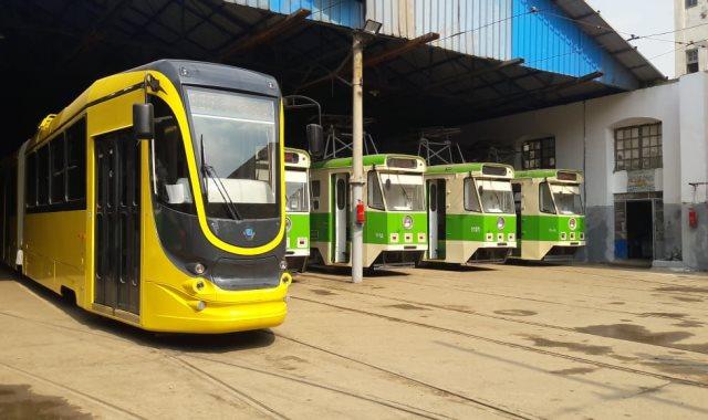 Украинские трамваи в Египте парк