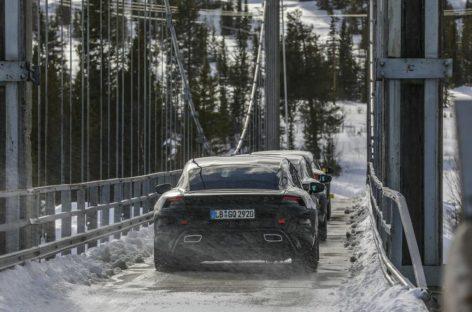Испытания нового Porsche Taycan перешли в заключительную фазу
