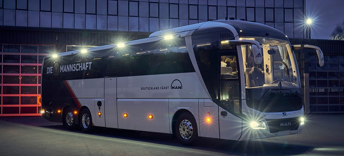 Эксклюзивный автобус Man Lion's Coach стал основным транспортом сборной Германии по футболу
