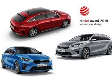 Три модели KIA удостоены наград  2019 Red Dot Awards