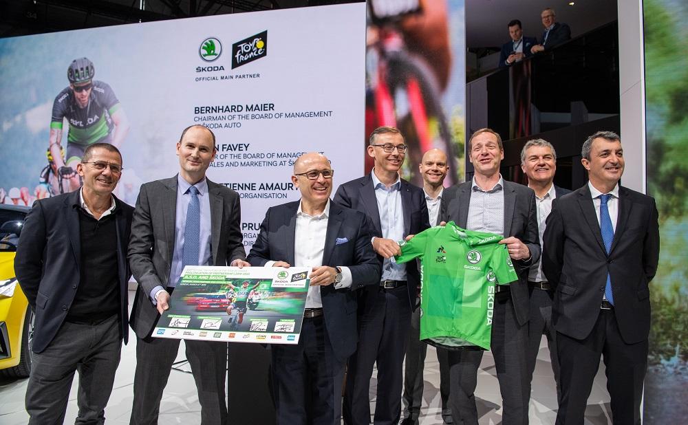 SKODA продлевает контракт с организатором велогонки Тур де Франс