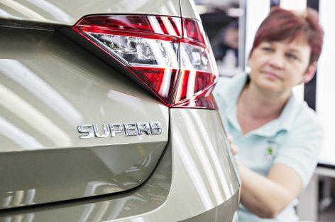 Важная веха: произведен 500-тысячный Škoda Superb третьего поколения
