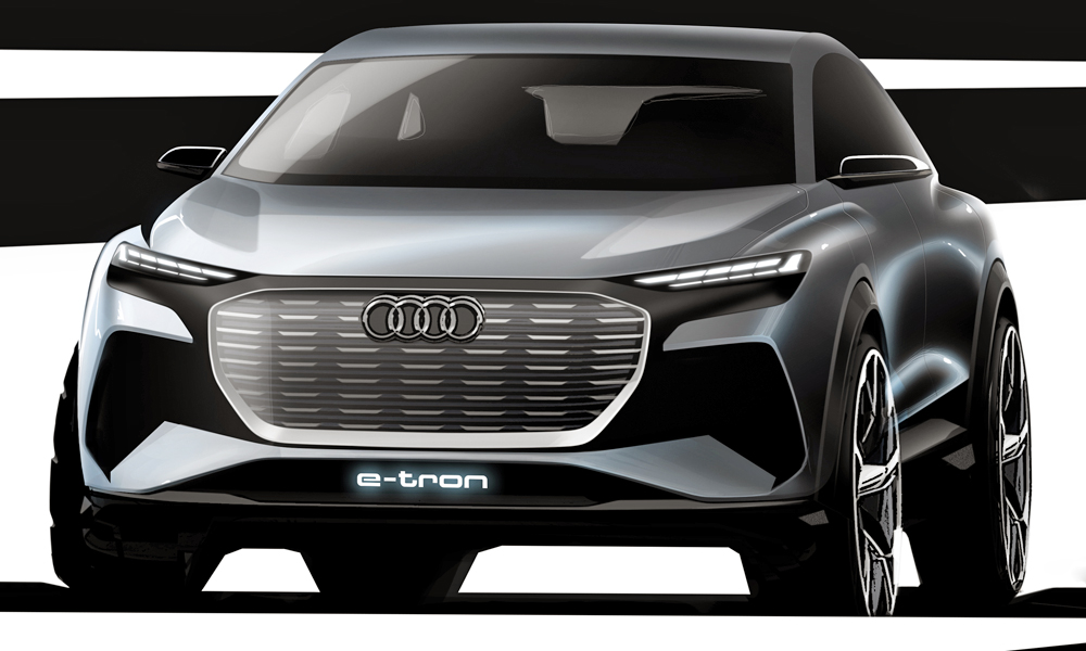 Design Sketch Audi Q4 e-tron