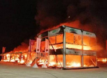 Пожар уничтожил все байки во время тестов в Хересе
