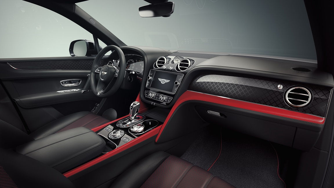 Bentayga Deign Series Pillar Red Interior (6)