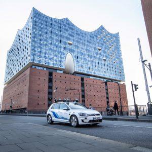 Испытания систем высокоавтоматизированного управления Volkswagen в Гамбурге