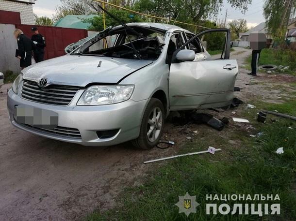 автомобиль после взрыва гранаты