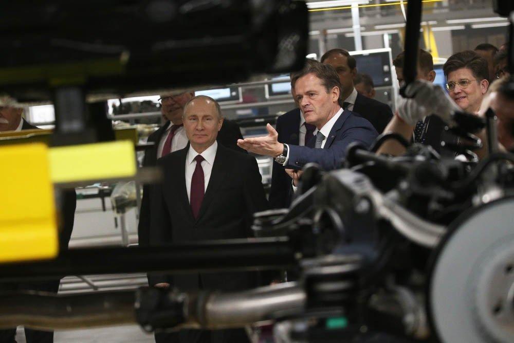 открытие завода Mercedes в Солнечногорске