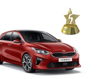 KIA Ceed победил в номинации «Компактный городской автомобиль» по итогам премии «ТОП-5 Авто 2019»