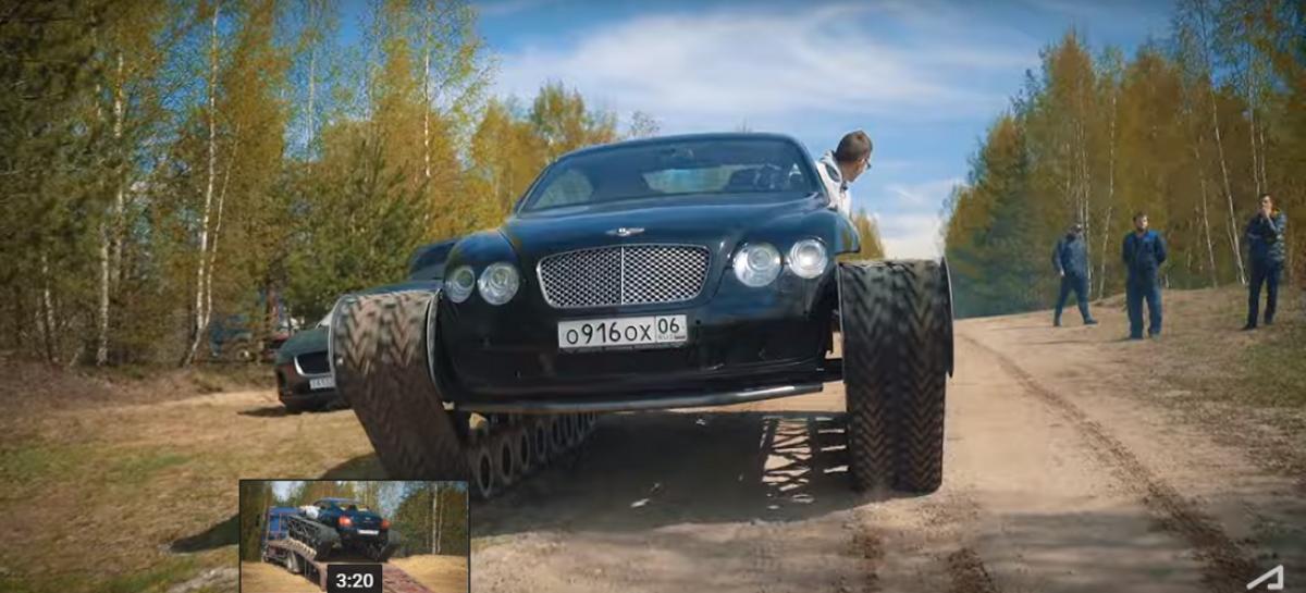 Русские автолюбители сделали из купе Bentley роскошный танк