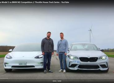 Дрэг-битва Tesla Model 3 и BMW M2 Competition: кто займет первенство