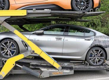 Новая модель BMW 8 Series была поймана при транспортировке на автовозе
