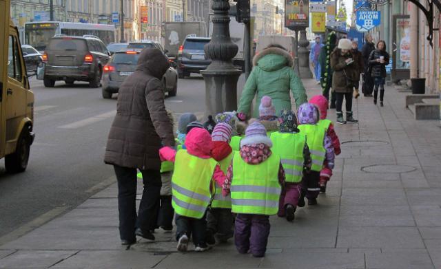 светоотражающие жилеты на детях