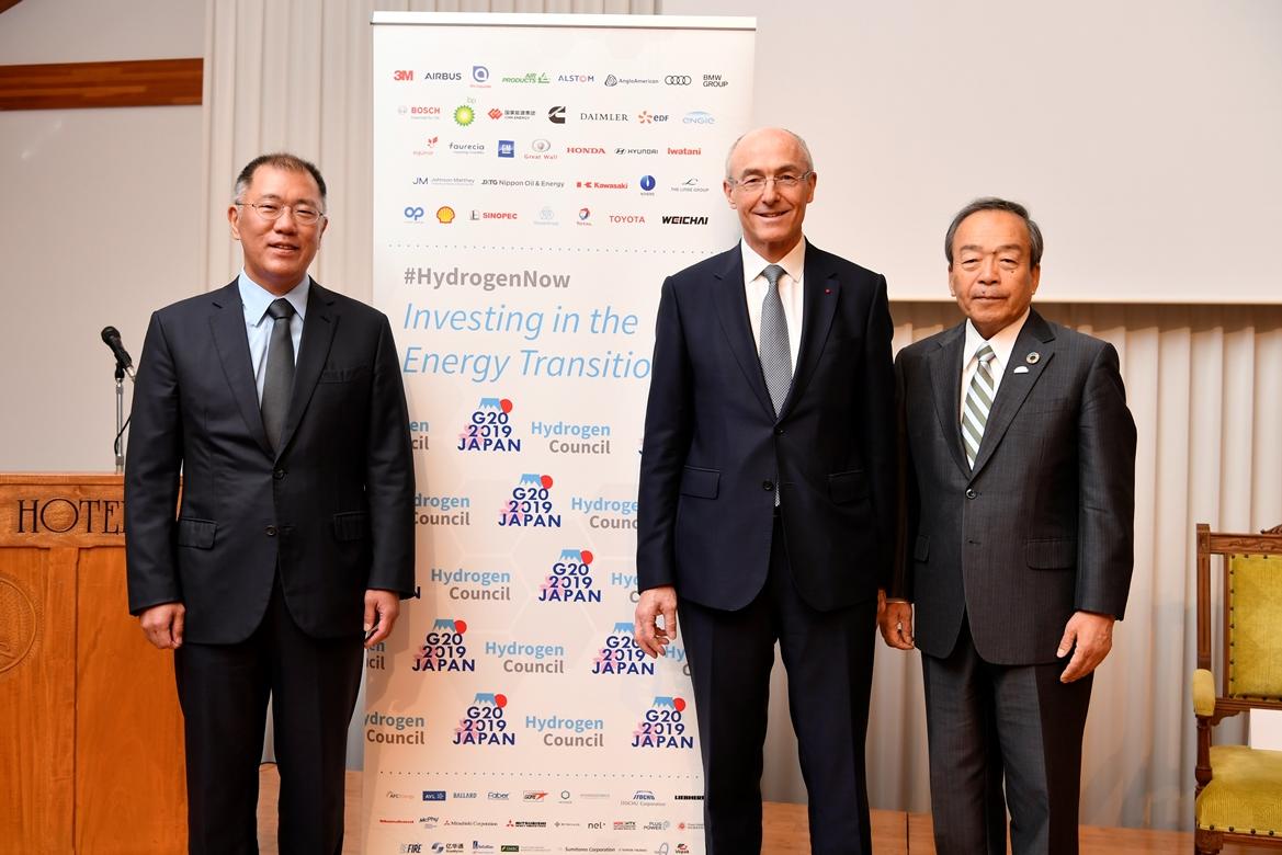 Чон Исон, Бенуа Потье, Такеши Учиямада, председатель Toyota саммит G20