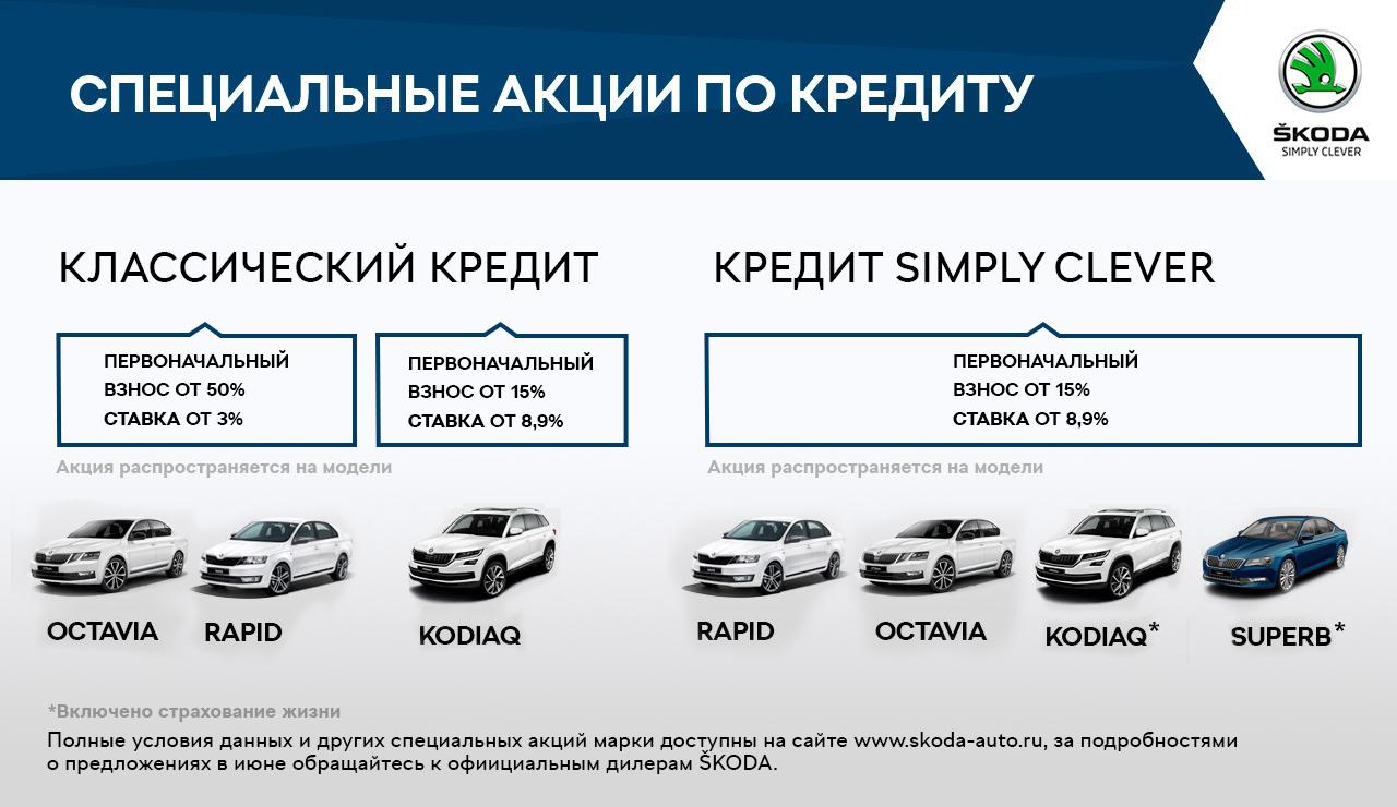 Летнее предложение от SKODA - выгодные условия на покупку автомобилей в июне (2)