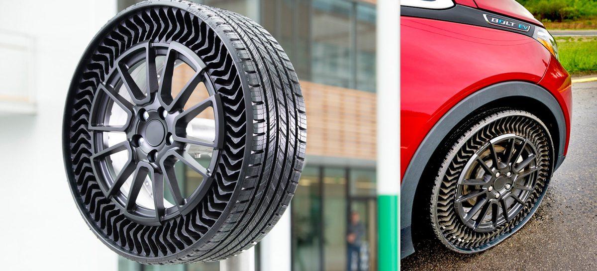 Группа Мишлен и General Motors представляют безвоздушные шины для легковых автомобилей